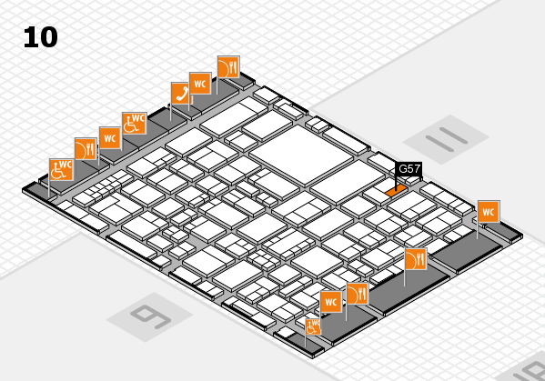 EuroShop 2017 hall map (Hall 10): stand G57