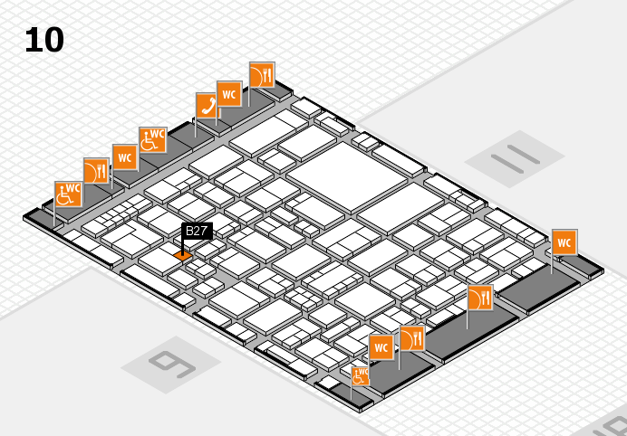 EuroShop 2017 hall map (Hall 10): stand B27