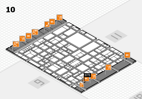 EuroShop 2017 hall map (Hall 10): stand B78