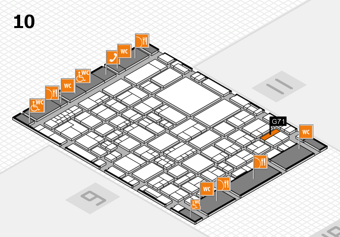 EuroShop 2017 hall map (Hall 10): stand G71