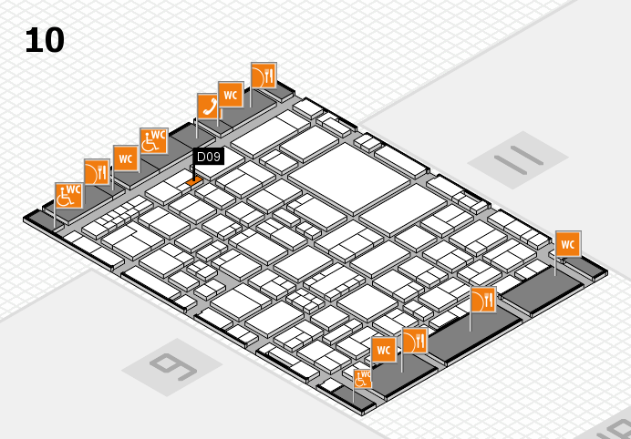 EuroShop 2017 hall map (Hall 10): stand D09