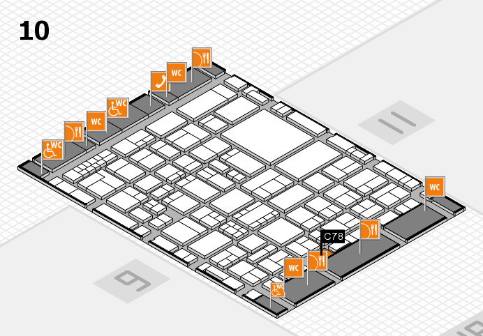 EuroShop 2017 hall map (Hall 10): stand C78