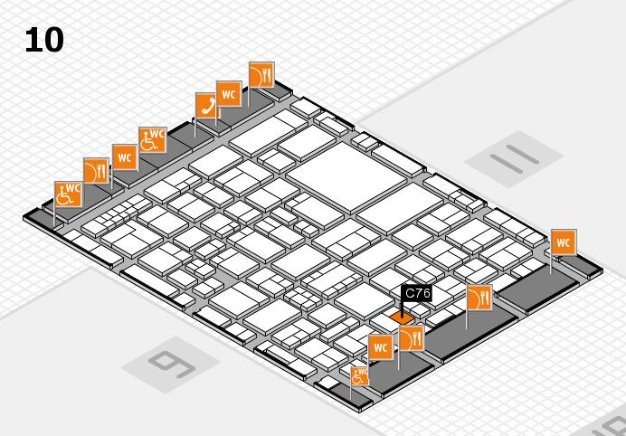 EuroShop 2017 hall map (Hall 10): stand C76