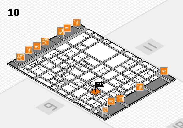 EuroShop 2017 hall map (Hall 10): stand C59