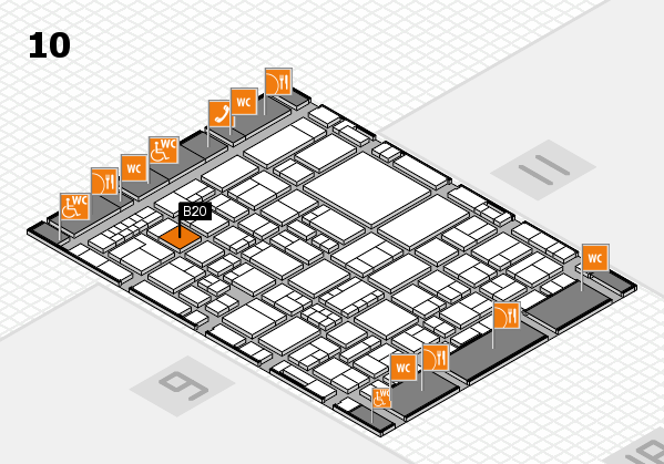 EuroShop 2017 hall map (Hall 10): stand B20