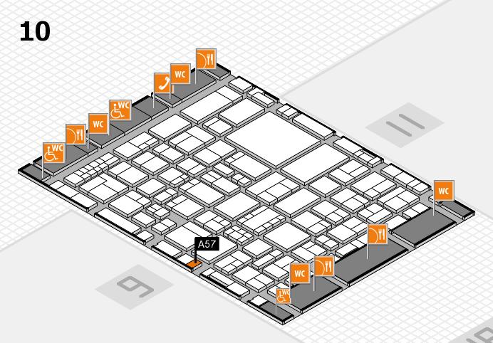 EuroShop 2017 hall map (Hall 10): stand A57