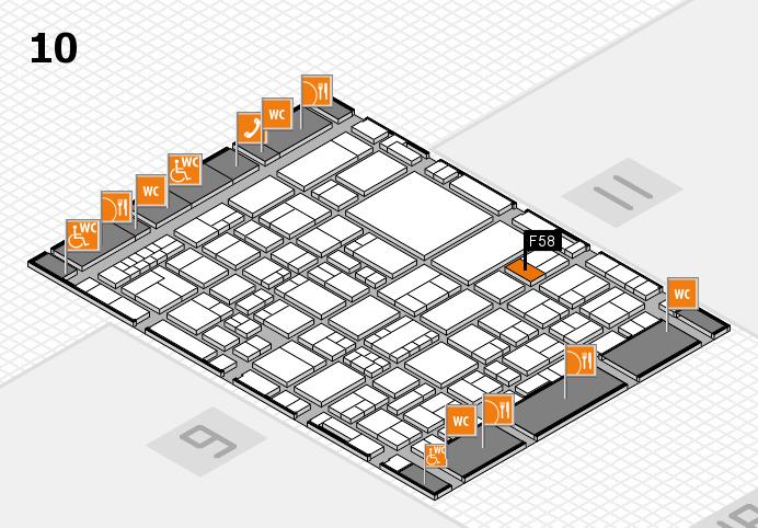 EuroShop 2017 hall map (Hall 10): stand F58