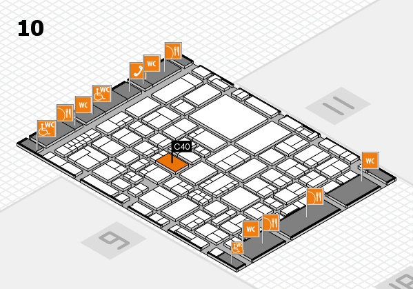 EuroShop 2017 hall map (Hall 10): stand C40