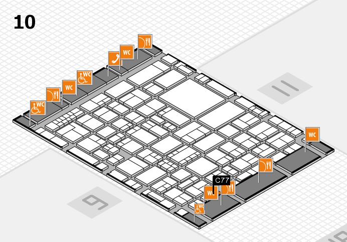 EuroShop 2017 hall map (Hall 10): stand C77