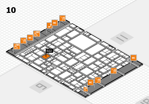 EuroShop 2017 hall map (Hall 10): stand B22
