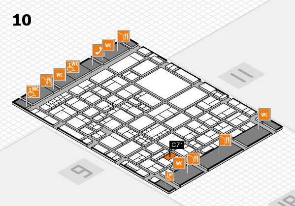 EuroShop 2017 hall map (Hall 10): stand C71
