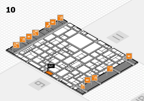 EuroShop 2017 hall map (Hall 10): stand A41
