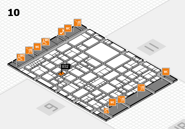 EuroShop 2017 hall map (Hall 10): stand B32