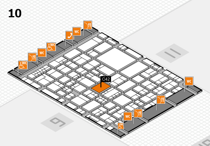EuroShop 2017 hall map (Hall 10): stand C42
