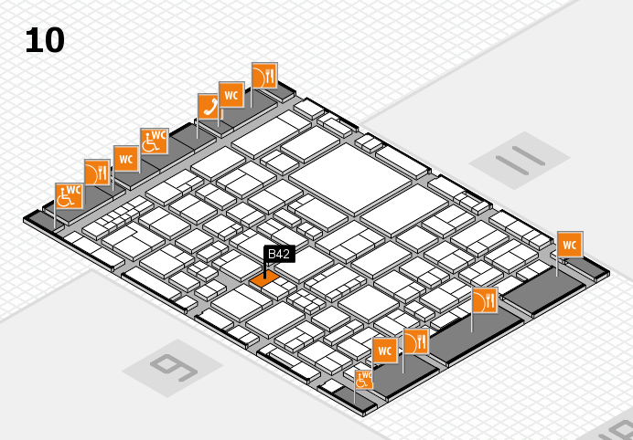 EuroShop 2017 hall map (Hall 10): stand B42