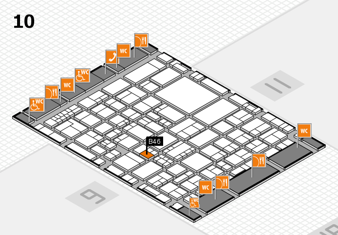 EuroShop 2017 hall map (Hall 10): stand B46