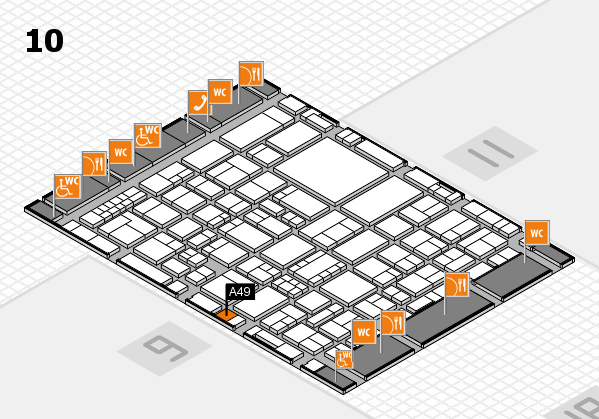 EuroShop 2017 hall map (Hall 10): stand A49