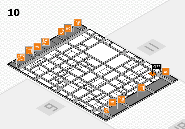 EuroShop 2017 hall map (Hall 10): stand G73