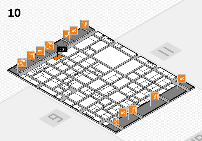 EuroShop 2017 hall map (Hall 10): stand D01