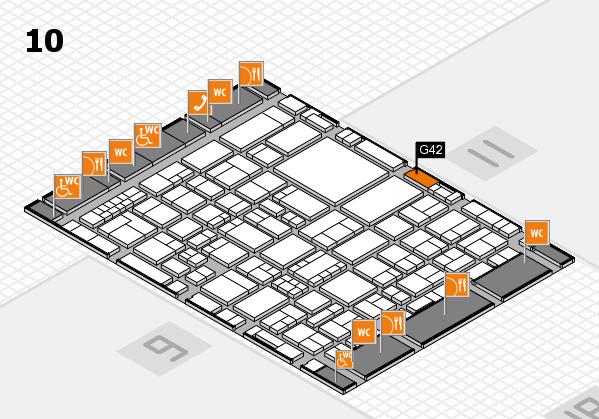 EuroShop 2017 hall map (Hall 10): stand G42