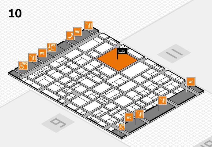 EuroShop 2017 hall map (Hall 10): stand E22