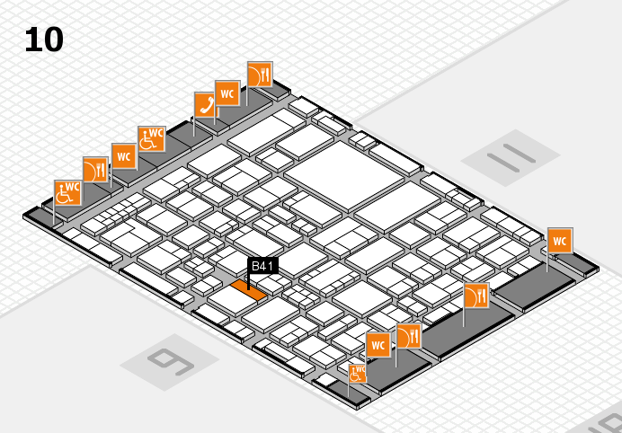 EuroShop 2017 hall map (Hall 10): stand B41