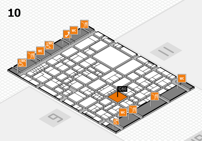 EuroShop 2017 hall map (Hall 10): stand C60
