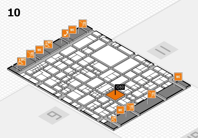 EuroShop 2017 hall map (Hall 10): stand C60