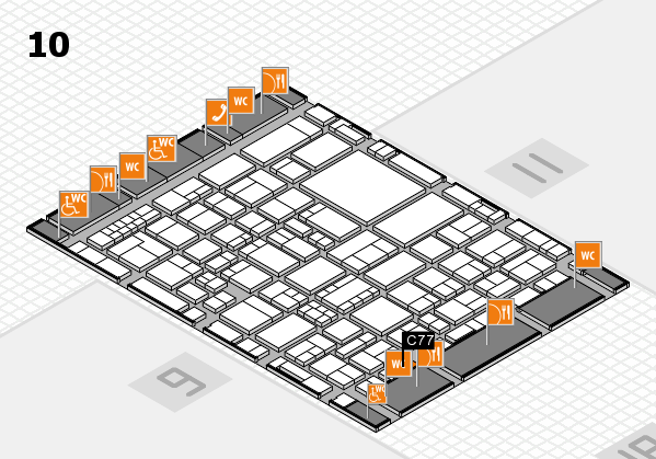 EuroShop 2017 hall map (Hall 10): stand C77