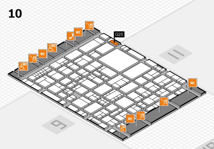 EuroShop 2017 hall map (Hall 10): stand G20