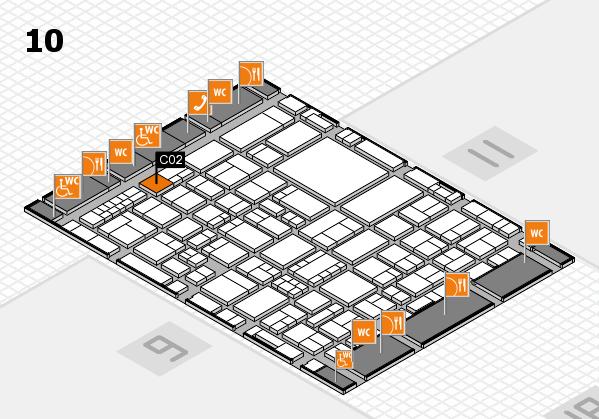 EuroShop 2017 hall map (Hall 10): stand C02