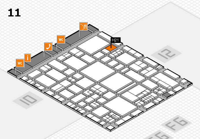 EuroShop 2017 hall map (Hall 11): stand H21