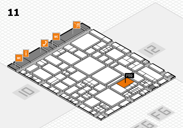 EuroShop 2017 hall map (Hall 11): stand F59