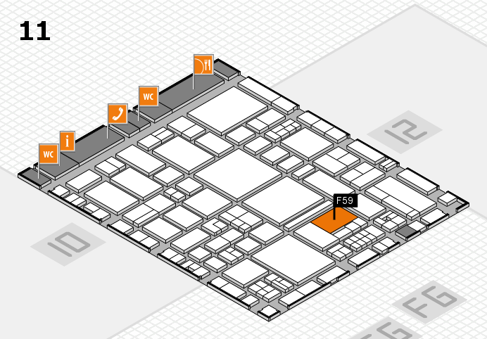EuroShop 2017 hall map (Hall 11): stand F59