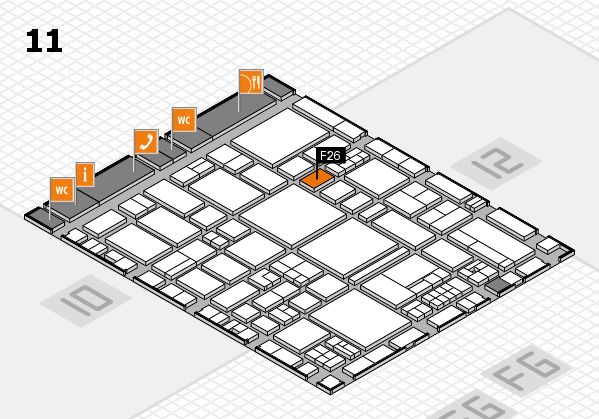 EuroShop 2017 hall map (Hall 11): stand F26