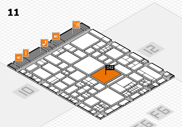 EuroShop 2017 hall map (Hall 11): stand D42