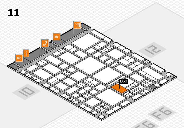 EuroShop 2017 hall map (Hall 11): stand D60