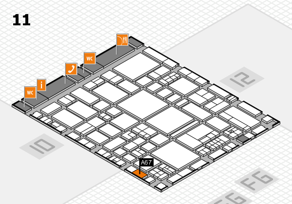 EuroShop 2017 hall map (Hall 11): stand A67