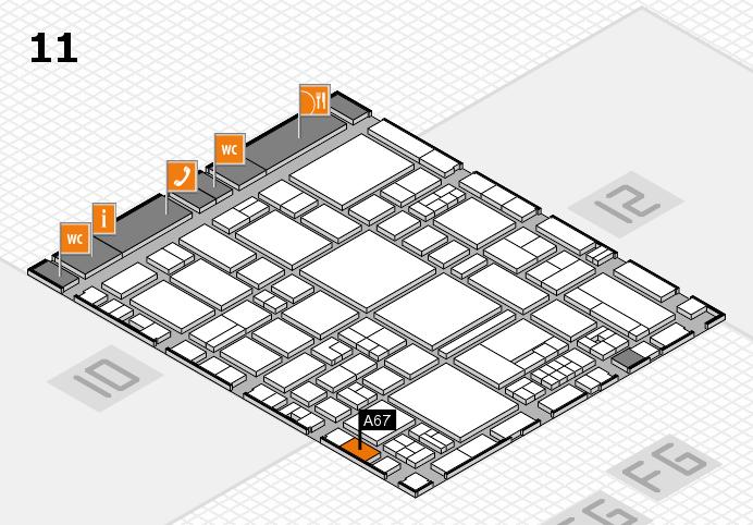 EuroShop 2017 Hallenplan (Halle 11): Stand A67