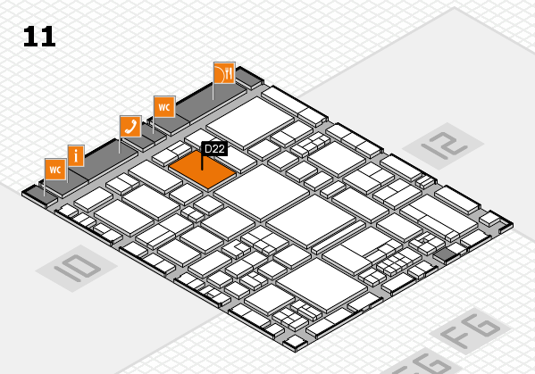 EuroShop 2017 hall map (Hall 11): stand D22