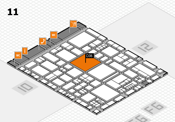 EuroShop 2017 hall map (Hall 11): stand D38