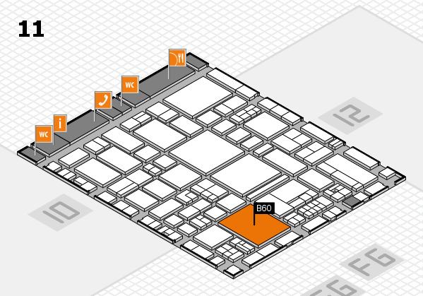 EuroShop 2017 hall map (Hall 11): stand B60