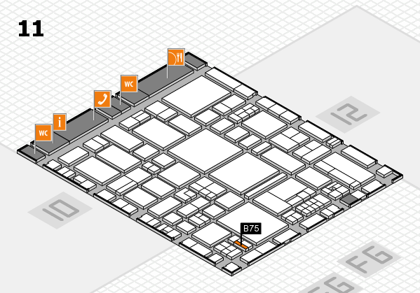 EuroShop 2017 hall map (Hall 11): stand B75