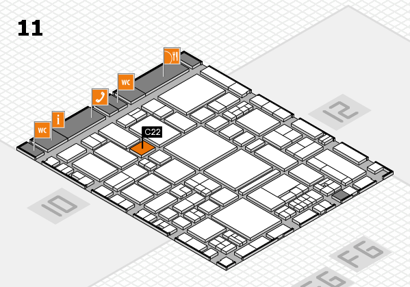 EuroShop 2017 hall map (Hall 11): stand C22