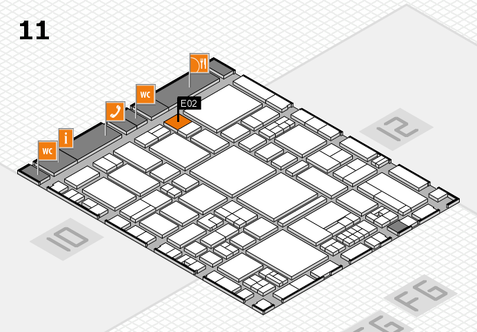 EuroShop 2017 hall map (Hall 11): stand E02
