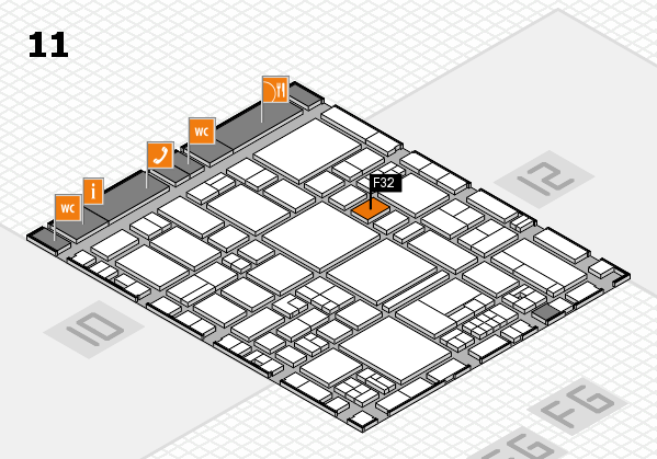 EuroShop 2017 hall map (Hall 11): stand F32