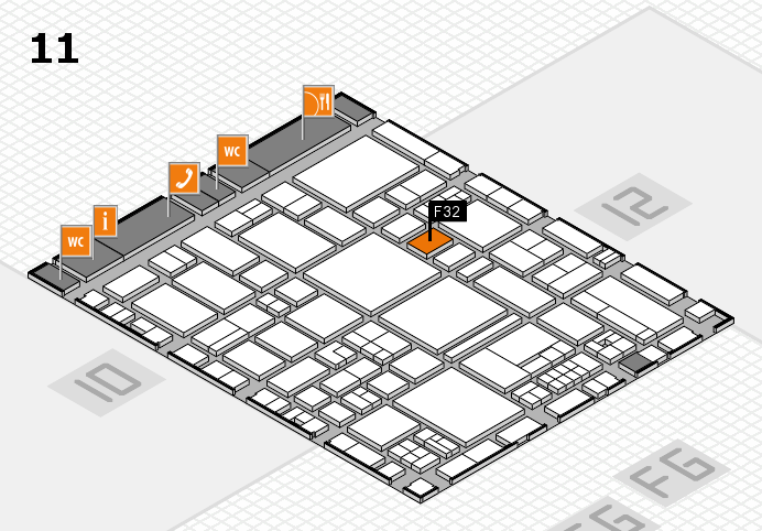 EuroShop 2017 hall map (Hall 11): stand F32