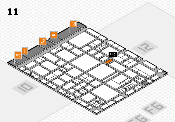 EuroShop 2017 hall map (Hall 11): stand F42