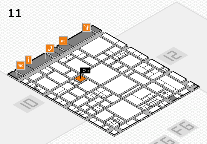 EuroShop 2017 hall map (Hall 11): stand D25