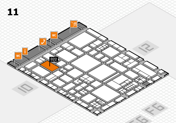 EuroShop 2017 hall map (Hall 11): stand B22